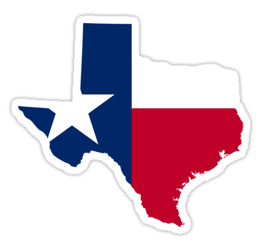"Texas | Flag State | SteezeFactory.com"" Stickers by ..."