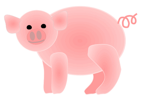 free clip art pink pig - photo #20