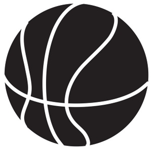 Girls Basketball Clipart Black And White - Free ...
