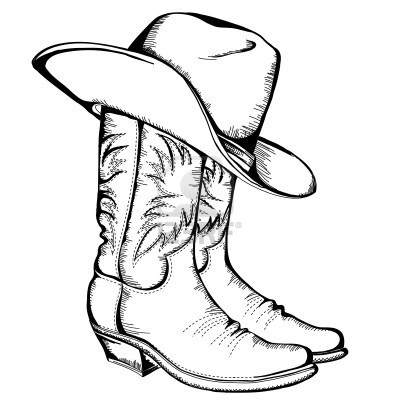 Cowboy Boot Coloring Pages Clipart Best Cowboy Boot Coloring Page