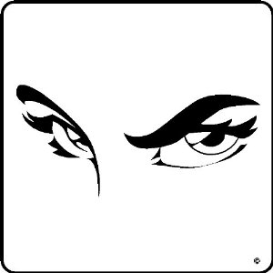 amazon     sexy eyes decal wall art stickers graphics black