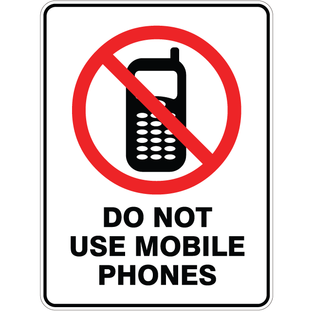 Do Not Use Mobile Phone Sign - ClipArt Best