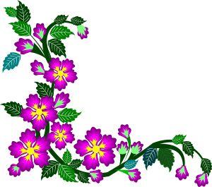 Simple Flower Corner Design Clipart Best,Address Label Designs