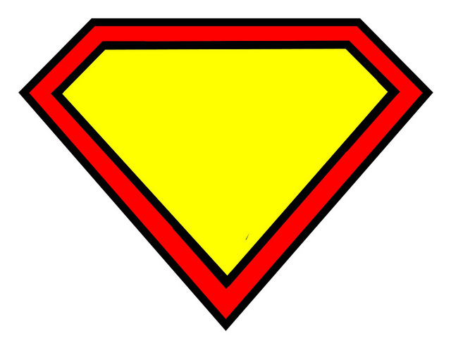 diamond shape outline superman clipart best