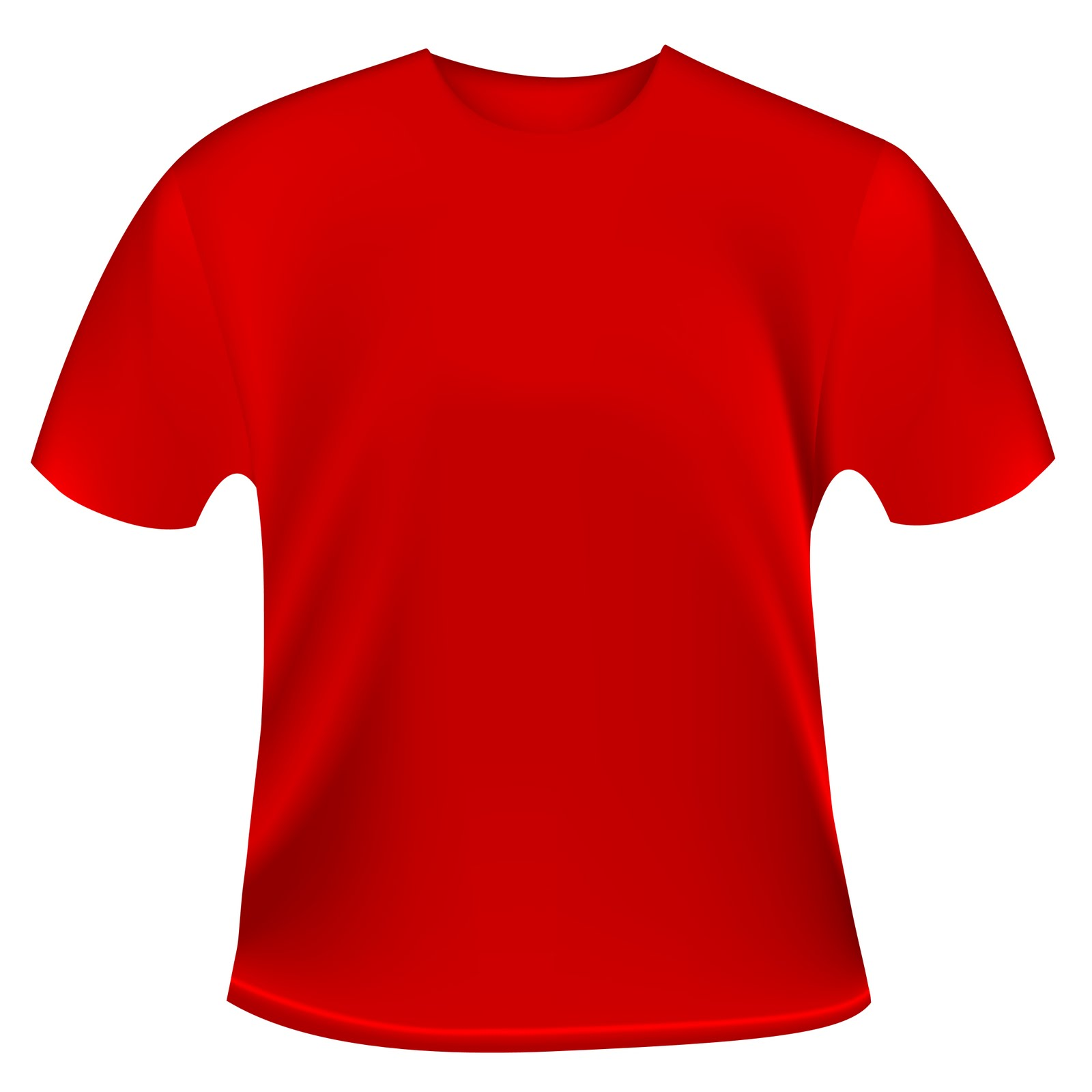 Plain Red T Shirt Template - ClipArt Best
