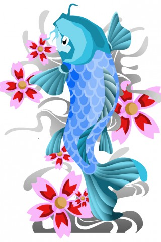 Clipart Of Koi Fish