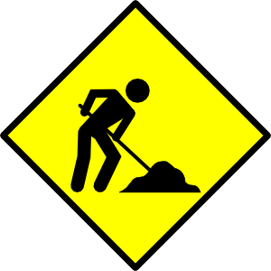 photograph relating to Construction Signs Printable identified as Printable Composition Signs or symptoms - ClipArt Great - ClipArt Least difficult