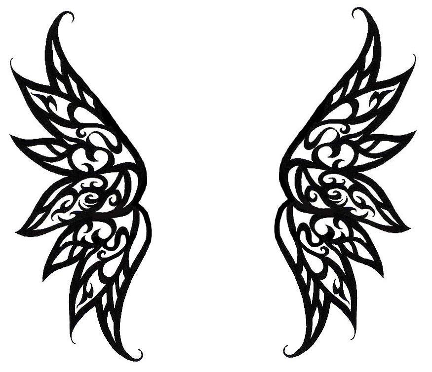 Simple Wing Drawing Simple Angel Wings Drawing