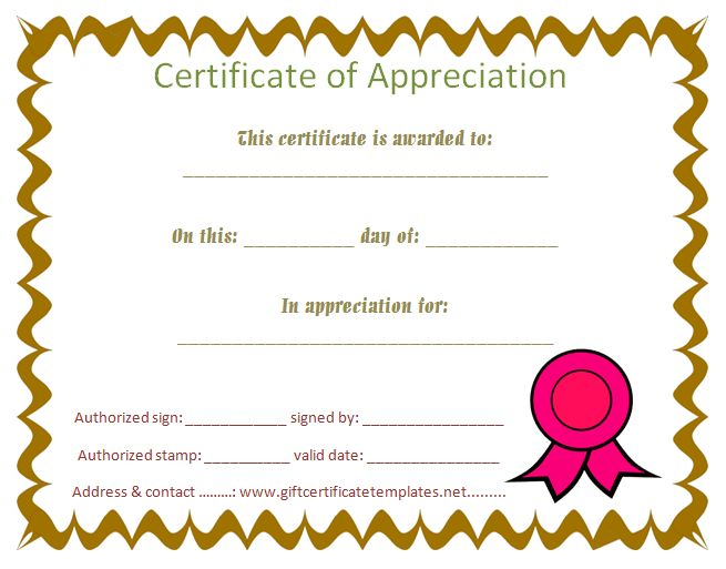 Thank You Certificate Template Free