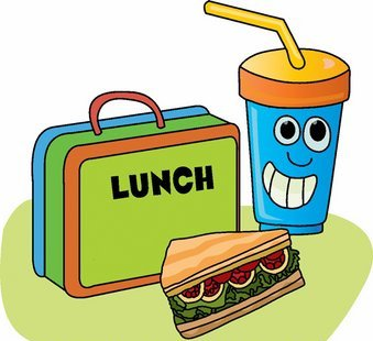 Cute kids clipart lunch