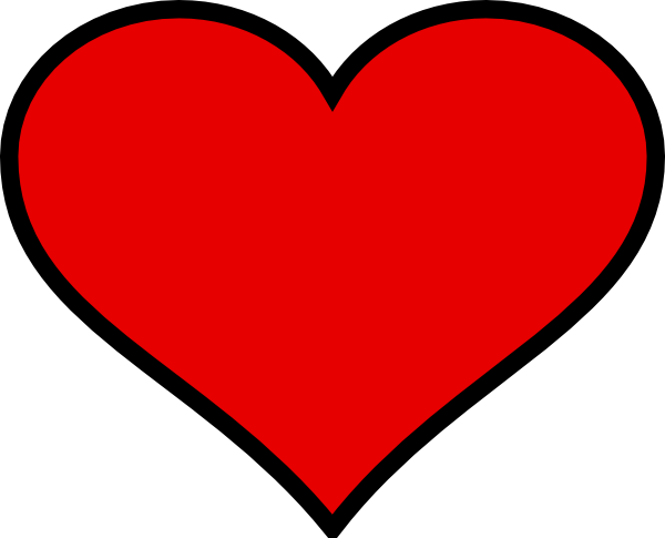 Big Heart Clipart Big Heart Outline Clipart Best Big