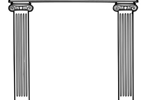 Roman column clip art
