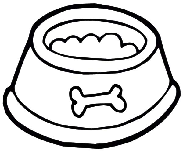 free dog bone coloring pages - photo#26