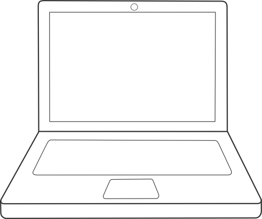 Line Drawing In Computer Graphics : Ordinateur portable laptop clipart royalty free