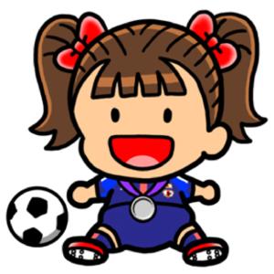 Girl Soccer Player clip art - vector clip art online, royalty free ...