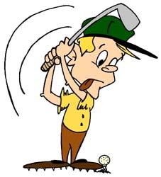 Cartoon golfer clip art