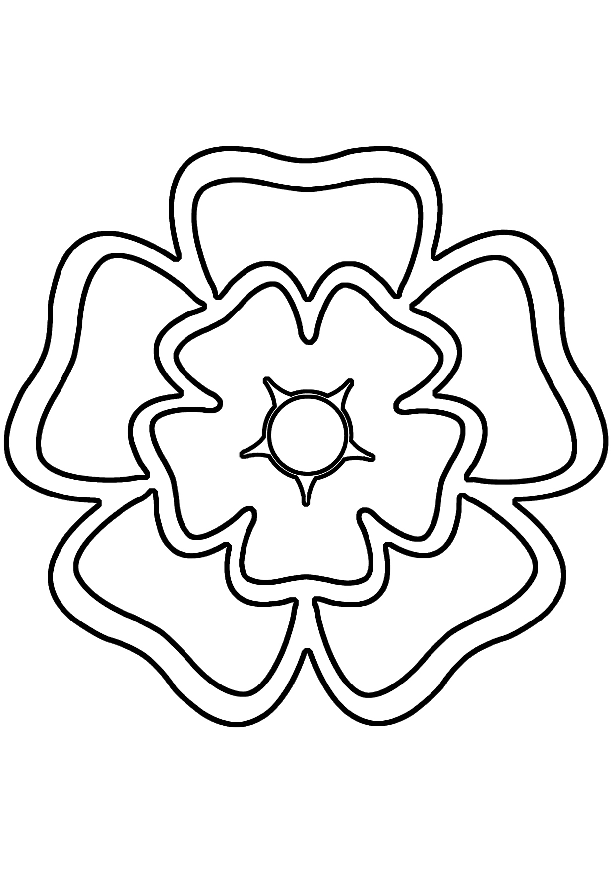 This is an image of Influential Rose Template Printable