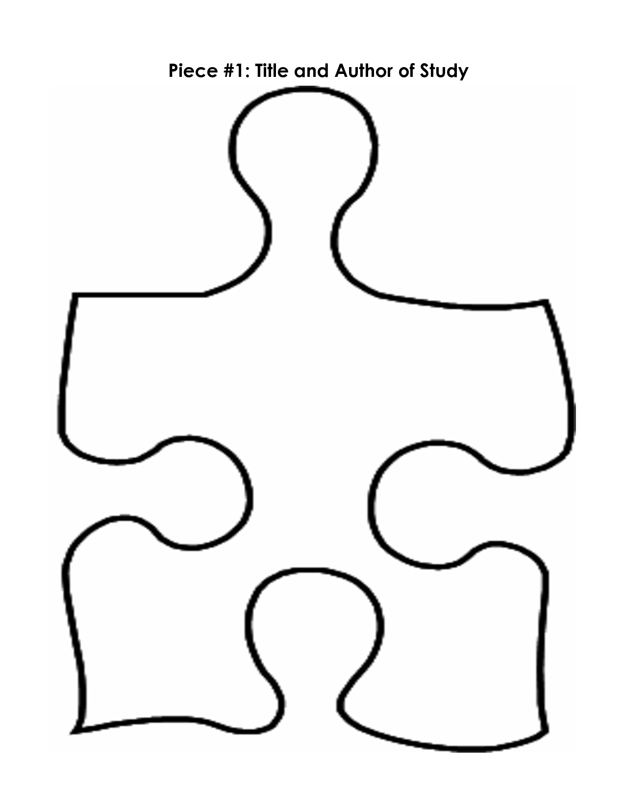 Puzzle Piece Mystery Book Template PP - ClipArt Best - ClipArt Best