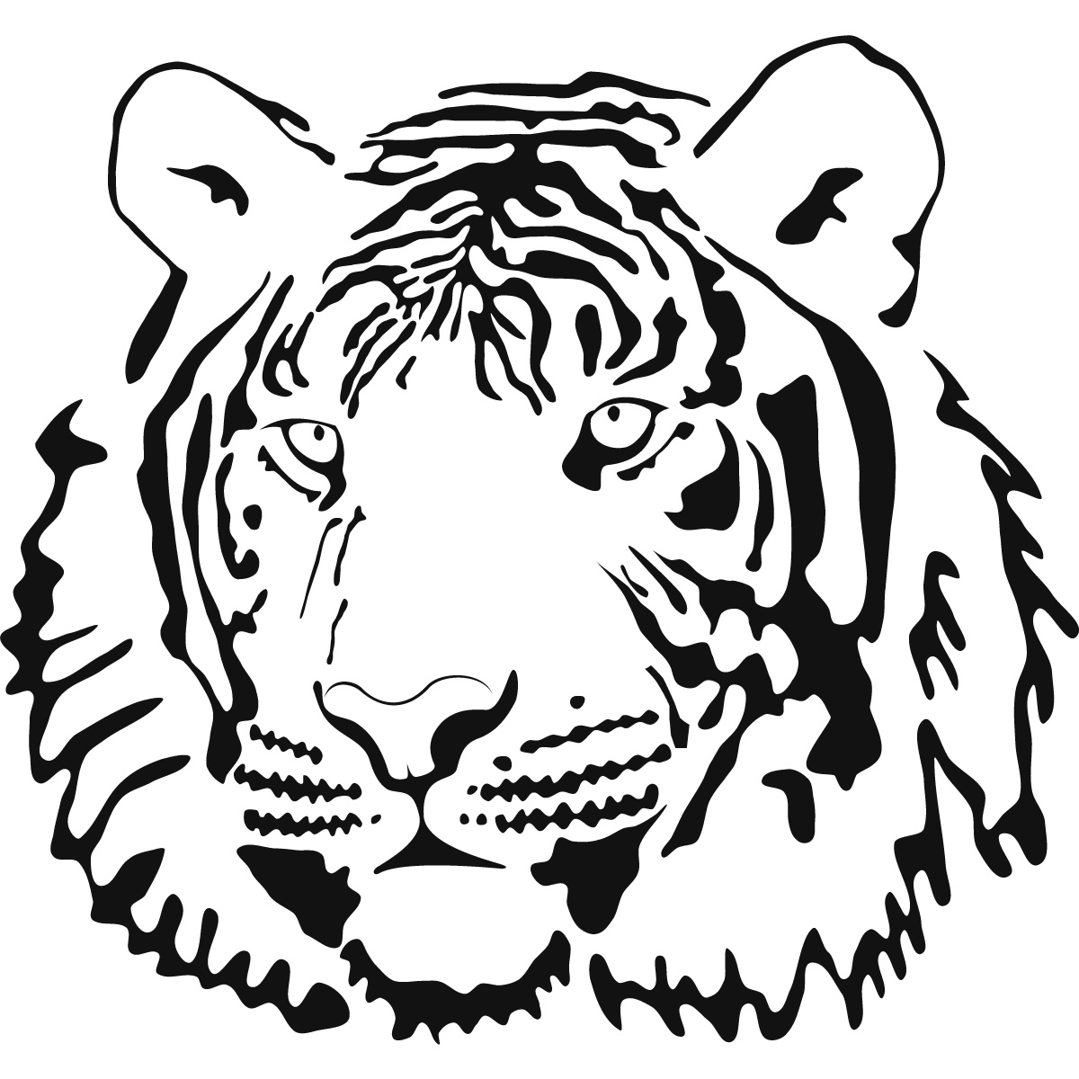 Free Outline Of A Tiger Coloring Pages