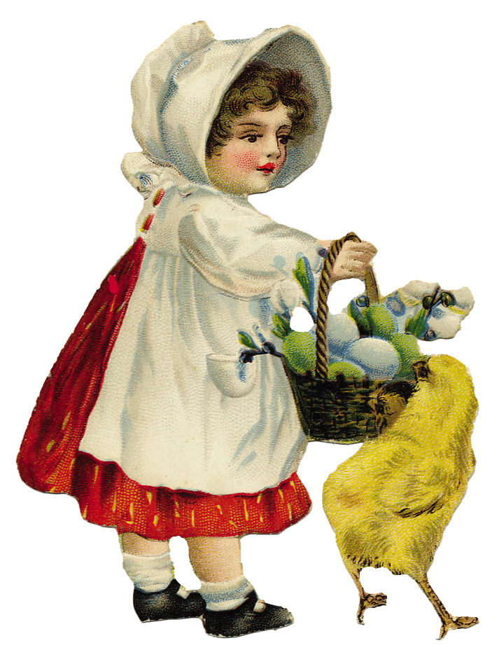 Free Graphic of the day Little vintage Easter Girl - The Cottage ...