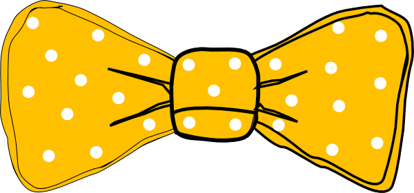 Yellow Bow Png Bow Tie Yellow Clip Art