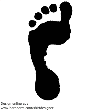 Footprint Vector | Free Download Clip Art | Free Clip Art | on ...
