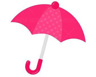 Pink Umbrella Clip Art Pink Umbrella C...