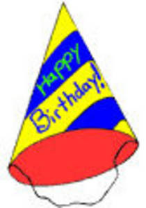 Happy birthday party hat clipart