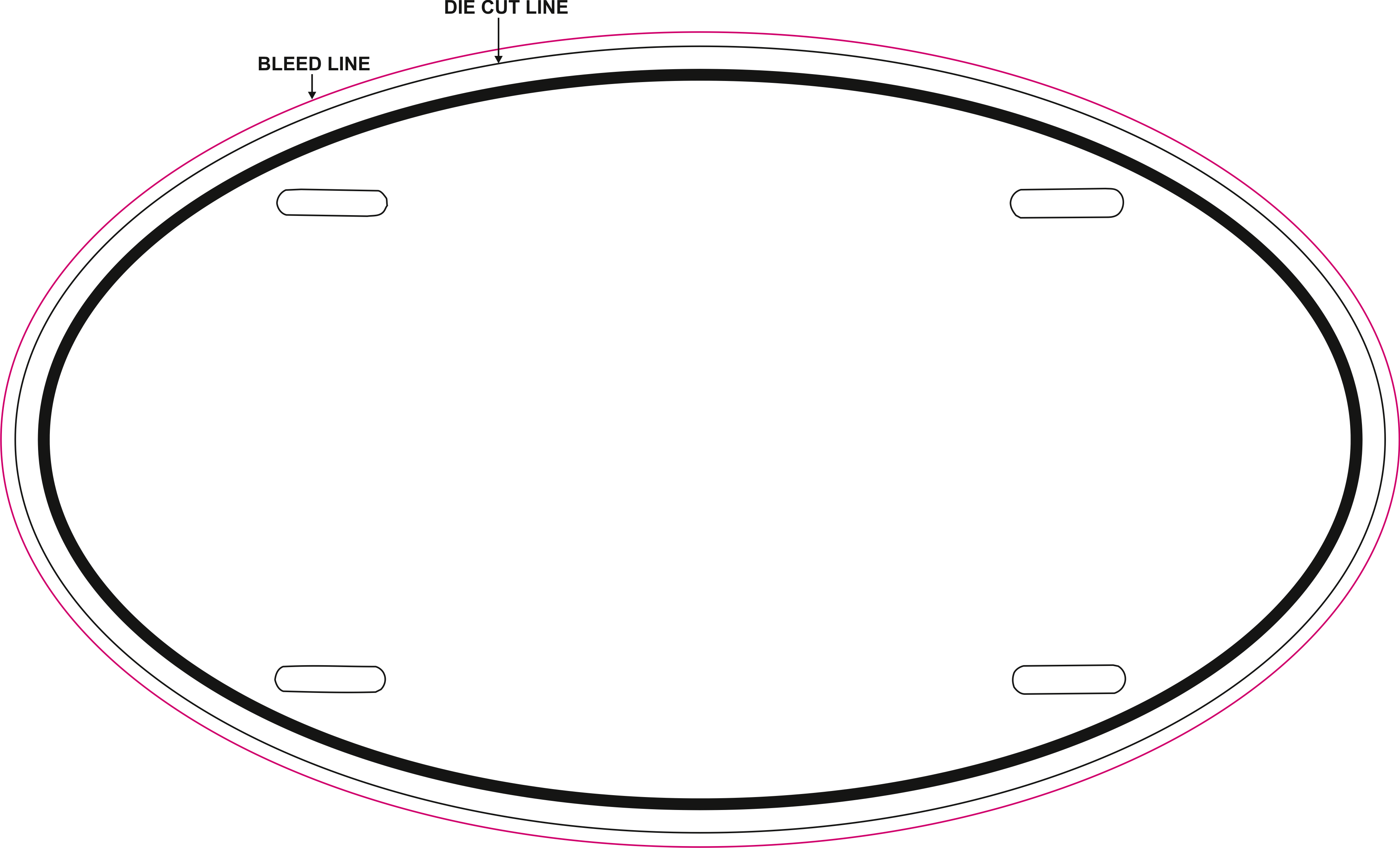 Large Oval Template