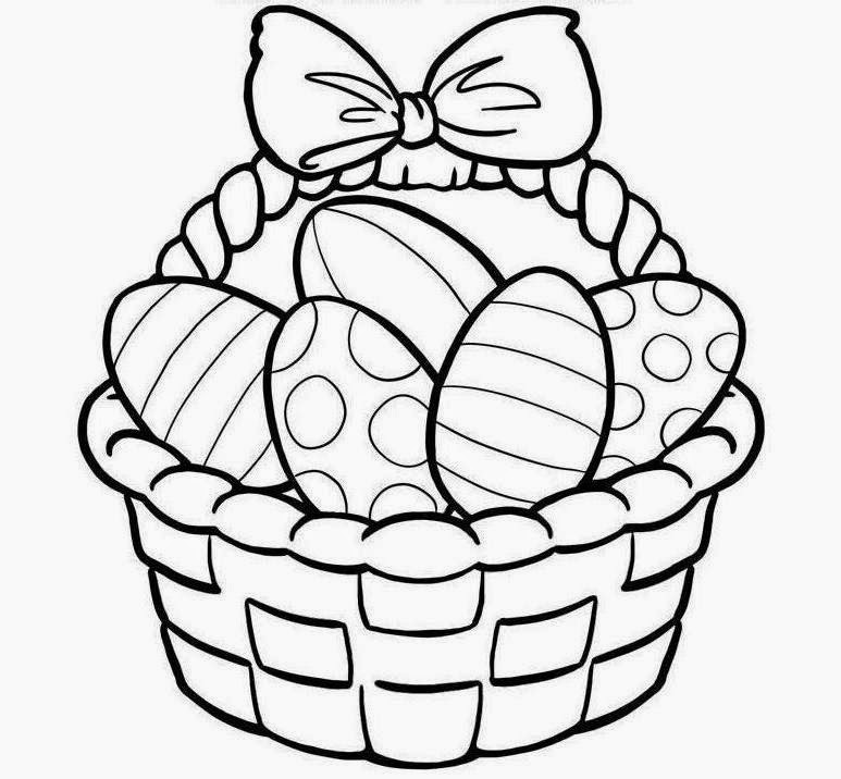 Simple Flower Basket Drawing : Simple easter baskets to draw clipart best