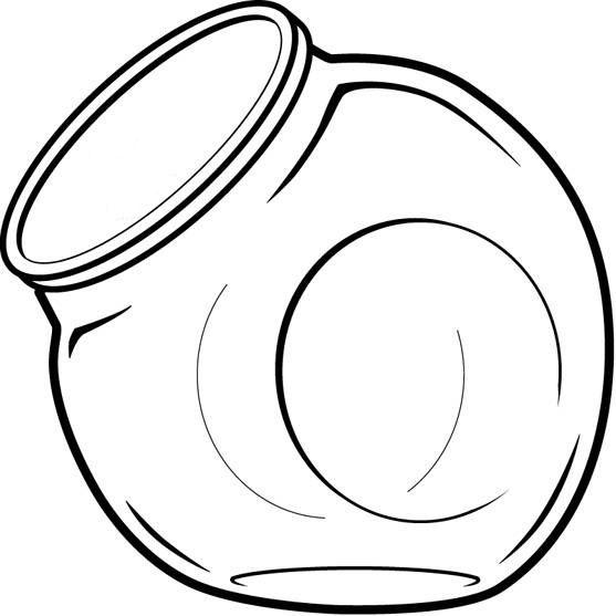 Printable Mason Jar Outline