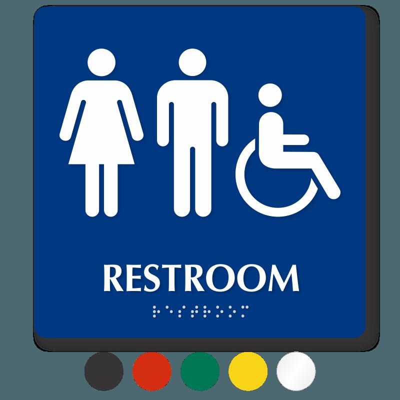 Unisex Bathroom Sign Printable Clipart Best