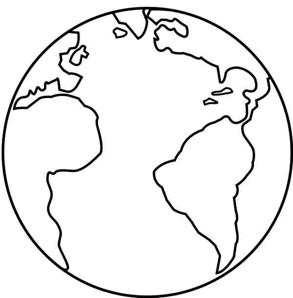Earth Coloring Pages Earth From Space Coloring Page Earth ...