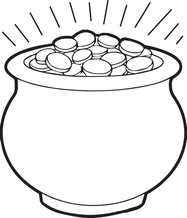 Coloring Page Of Flower Pot
