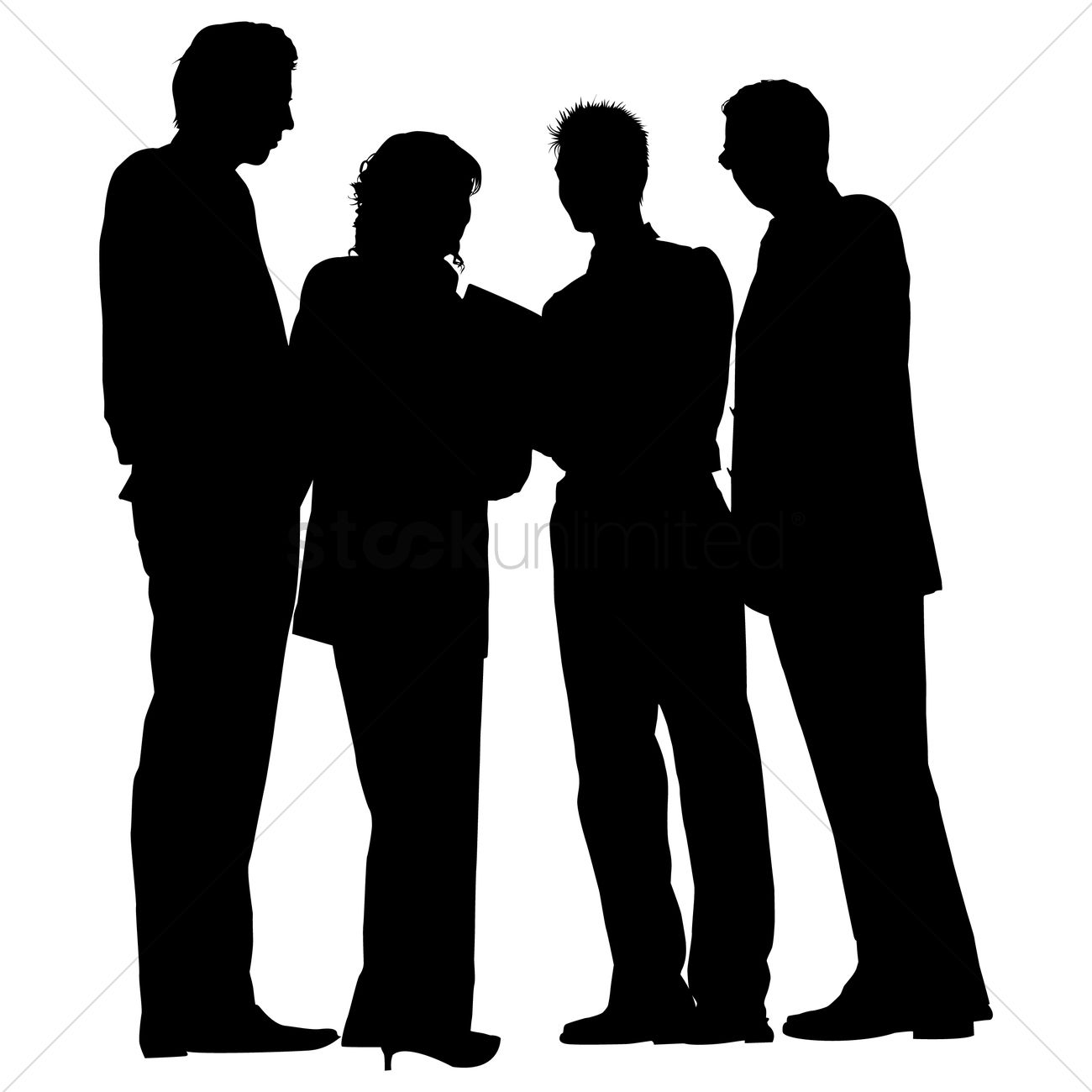 Silhouette People Standing - ClipArt Best