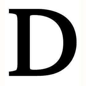 Wrought Iron Letter D