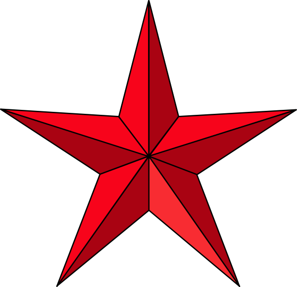 Red Texas Star Clipart