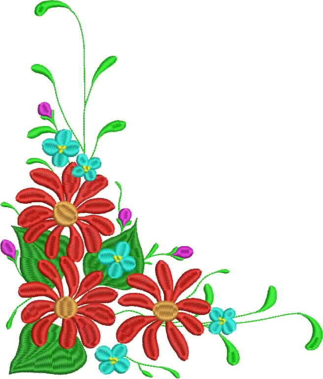 Corner Flowers Clipart Best