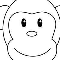Monkey face coloring page clipart best for Monkey face coloring pages