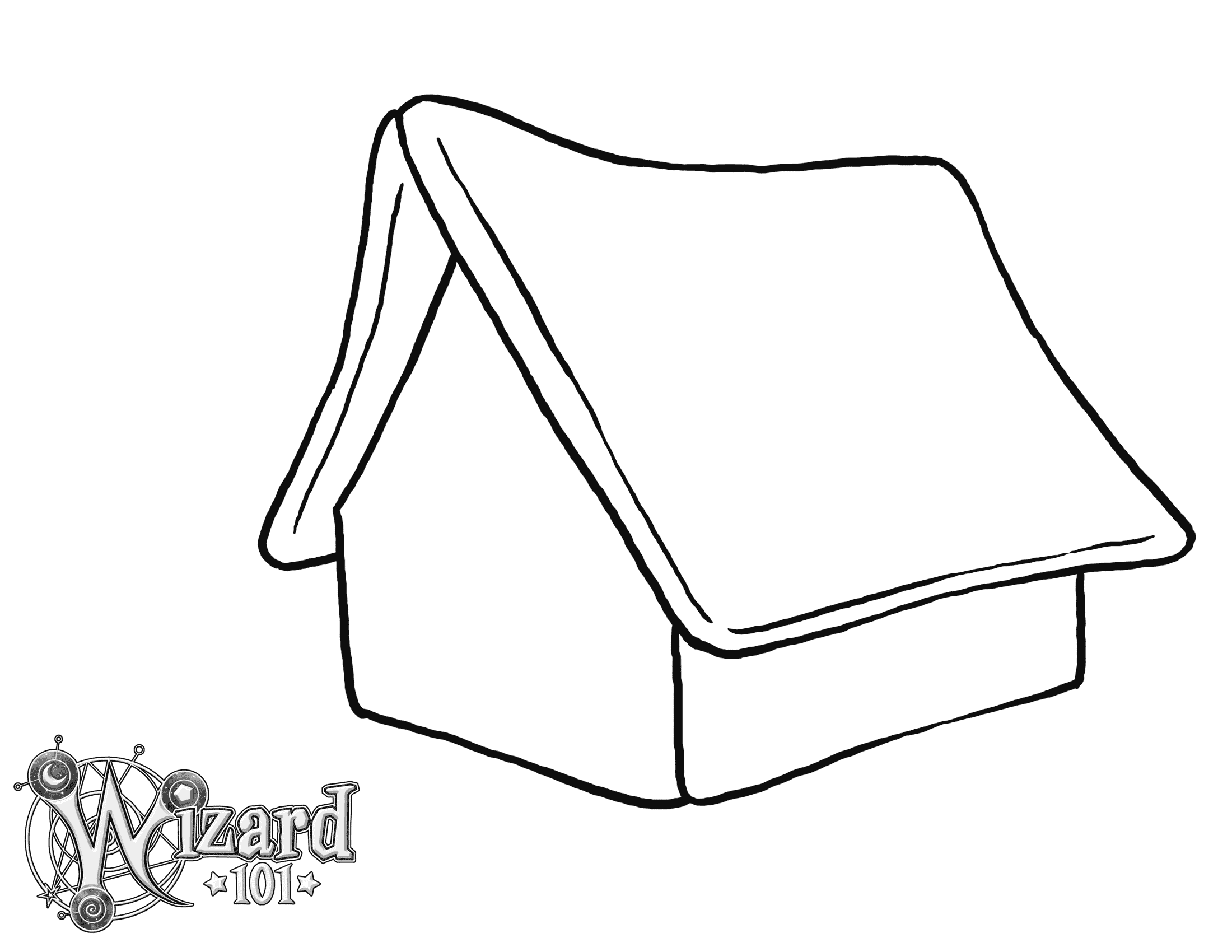 Gingerbread House Outline - ClipArt Best
