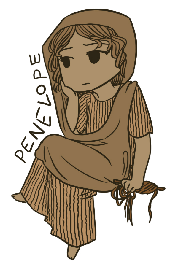 the differing opinions of telemachus and penelope Many readers of the odyssey want penelope, odysseus'  to be silent after she  asks the poet performing in her palace to sing a different tune.