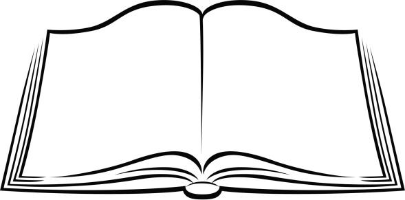Black and white open book vector clip art  Public domain