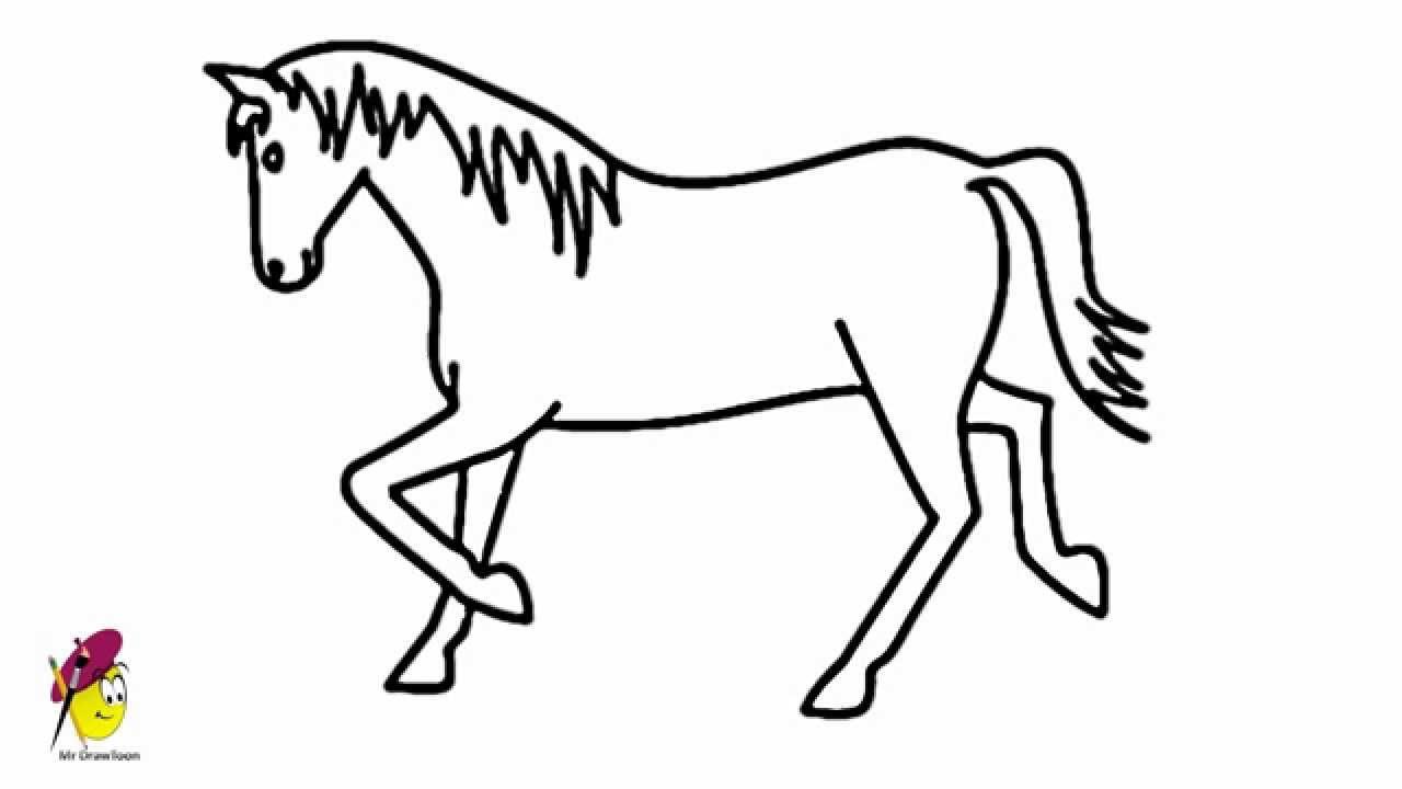 Simple Elegant Line Art : Horse pictures drawings clipart best