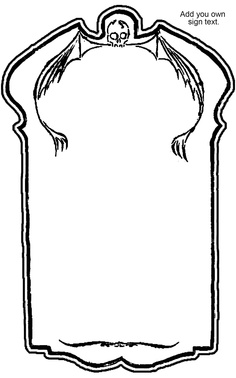 printable tombstone coloring pages | Tombstone Outline - ClipArt Best