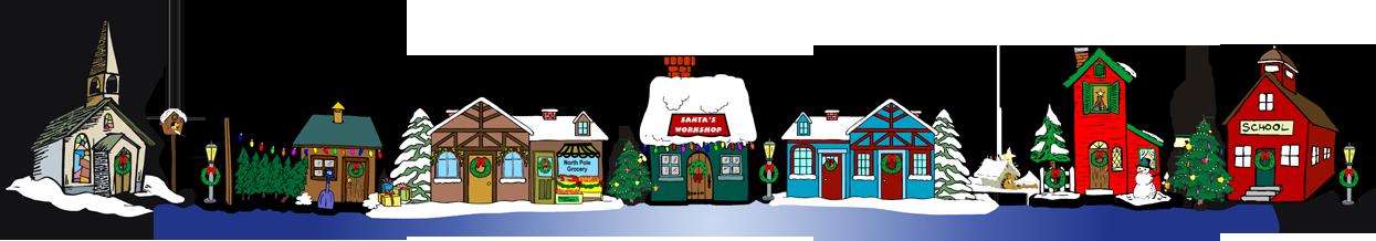 Christmas village clipart best