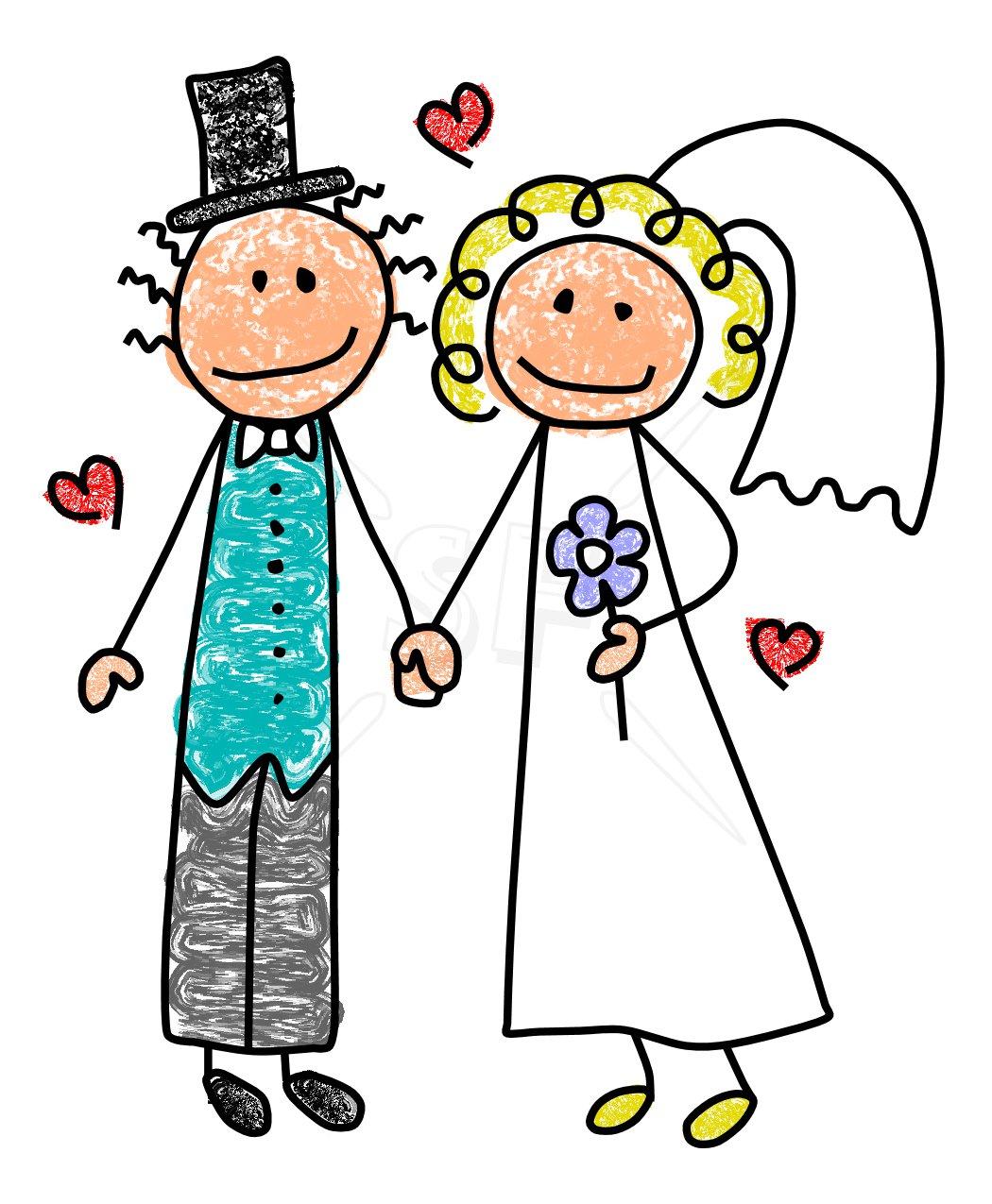 free clipart of wedding couple - photo #23