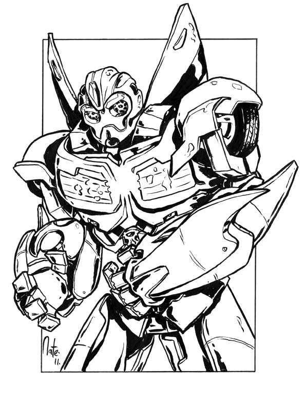 transformer bumblebee coloring pages - photo#17