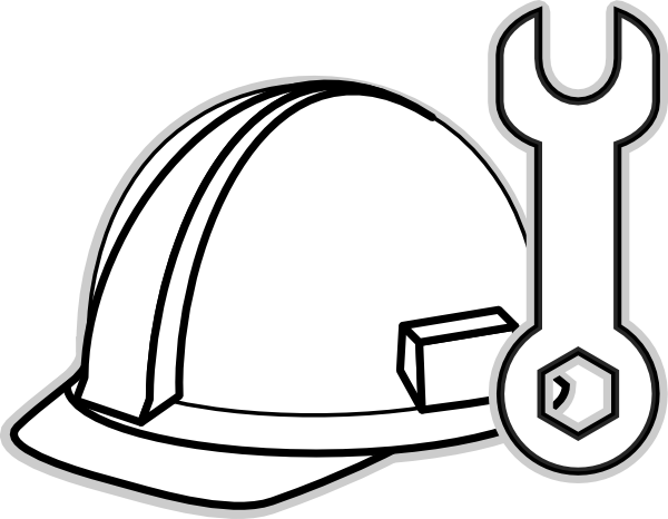 Construction Clipart Black And White Gallery for hard hat clip artUnder Construction Clipart Black And White