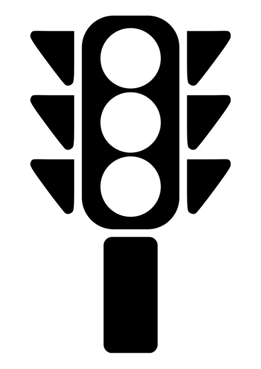 Traffic Light Colouring Picture Clipart Best
