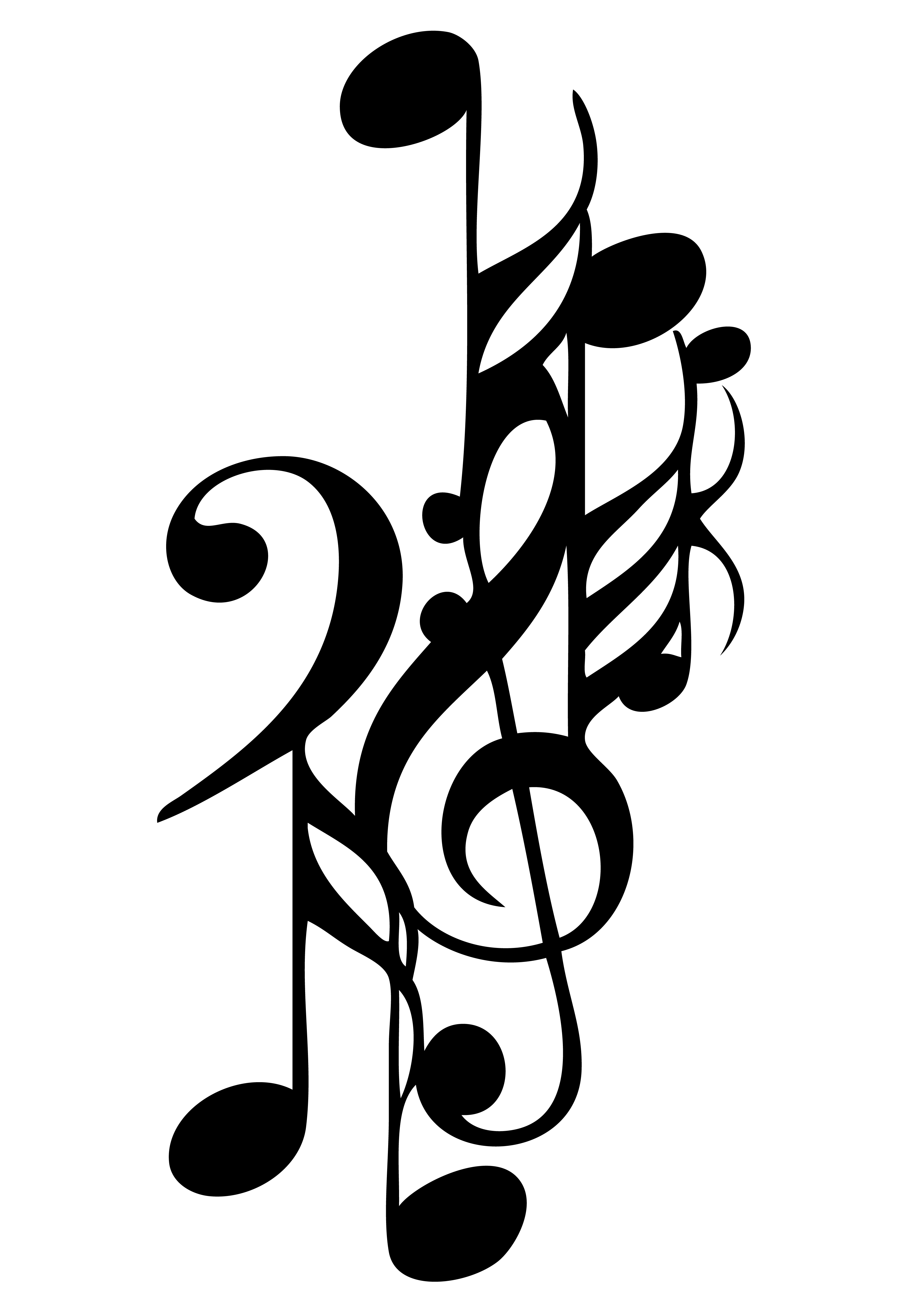 Cool Music Notes Drawings - ClipArt Best